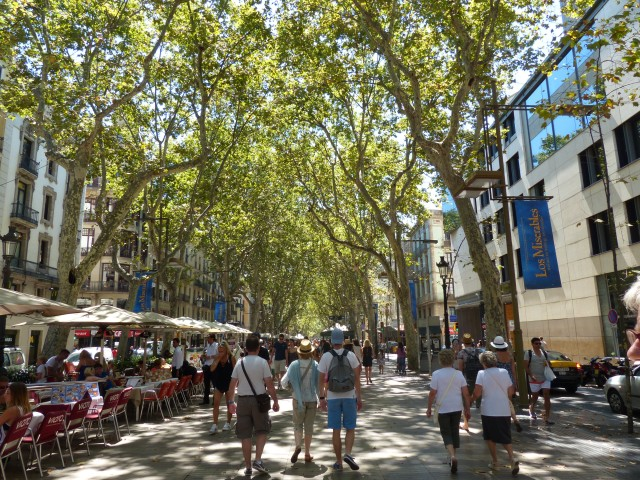 La Rambla - the most touristic street of Barcelona