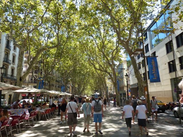 La Rambla - the most touristic street of Barcelona