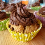 Peanut Butter and Chocolate Chip Cupcakes with Chocolate Frosting