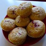 Simple Cherry Jam Muffins