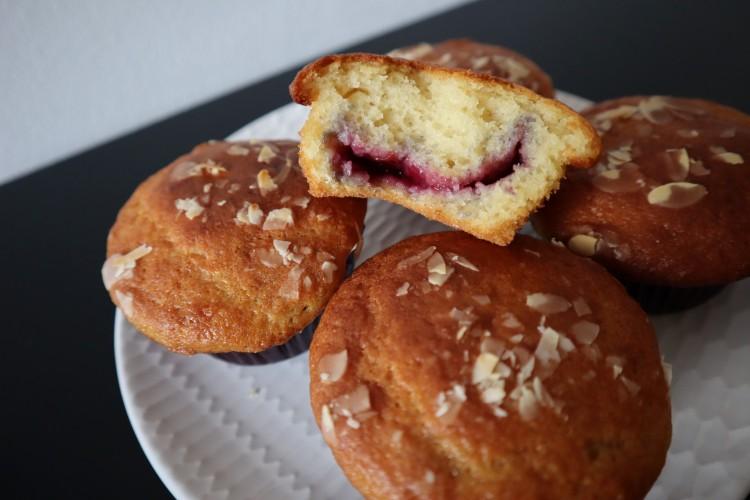 almond cherry muffins 3