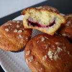 Almond Muffins with Cherry Filling