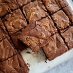Chocolate Brownies with a Peanut Butter Swirl