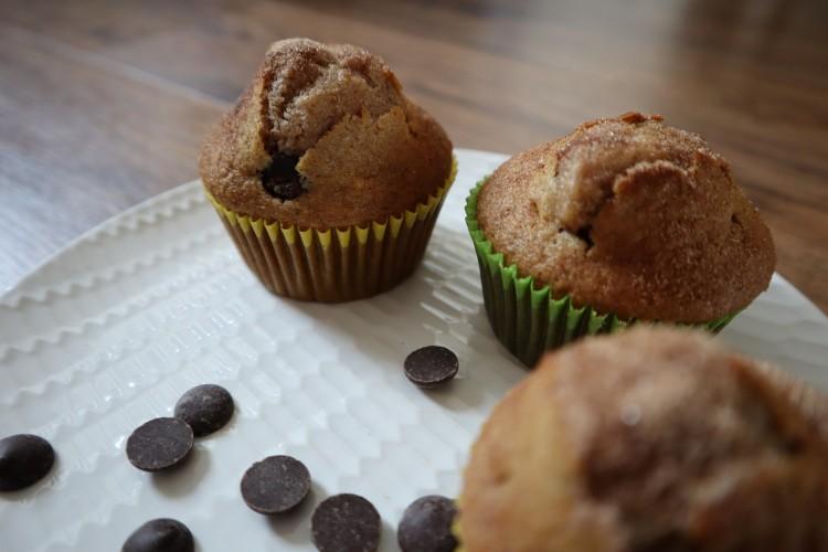 cinnamon chocolate chip muffins 3
