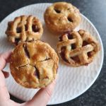 mini apple and blueberry pies