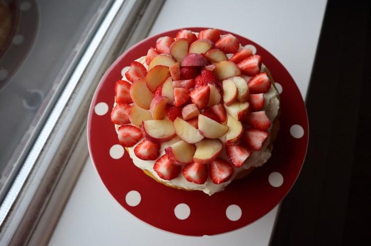 summer fruit cream cheese cake 3
